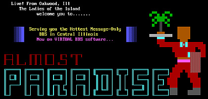ANSI graphic from Almost Paradise BBS